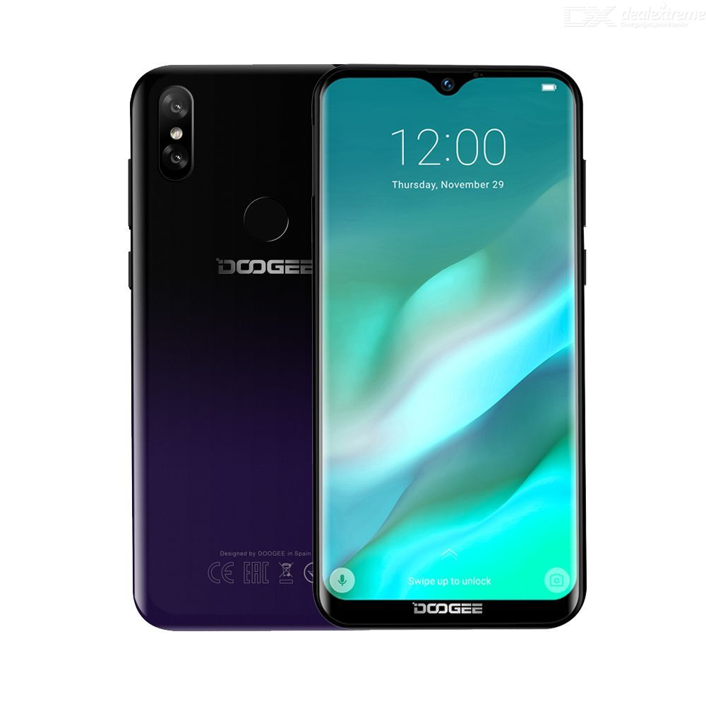 DOOGEE Y8  4G Smartphone 6.1 inch HD Waterdrop Screen Quad Core 3GB RAM 16GB ROM MT6739 Android 9 Pie Gradient Back Cover 3400mA