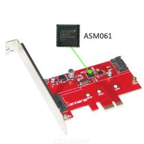 PCIe-to-SATA-30-and-M2-Adapter-Simultaneously-Connect-NGFF-SATA-Based-B-Key-SSD-and-SATA-HDD-or-CD-Drive-SATA-III-to-PCIe-6G
