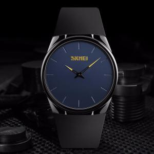 SKMEI 1601S Male Quartz Watches Casual Dress Ultra Thin Wristwatches 30M Waterproof Simple Business Men Watch