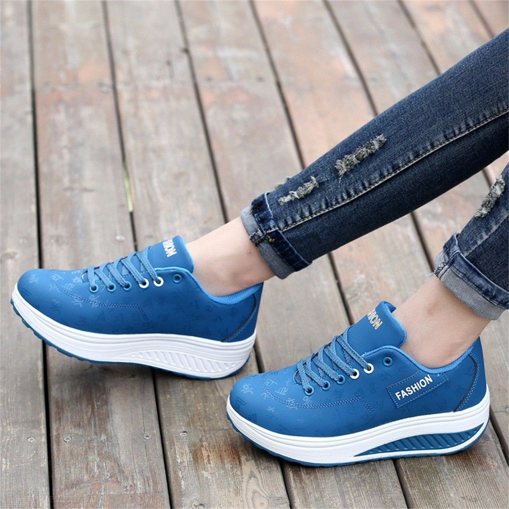 Soft Breathable Platform Shoes Casual Sports Wedges For Women