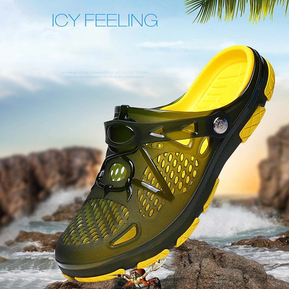 Breathable Hollow Slippers Non Slip Sandals Soft Walking Shoes For Men
