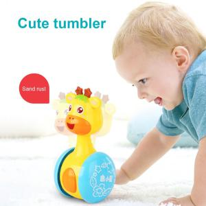 Baby Rattles Tumbler Doll Toys Sweet Bell Music Roly-poly Learning Education Toys Gifts