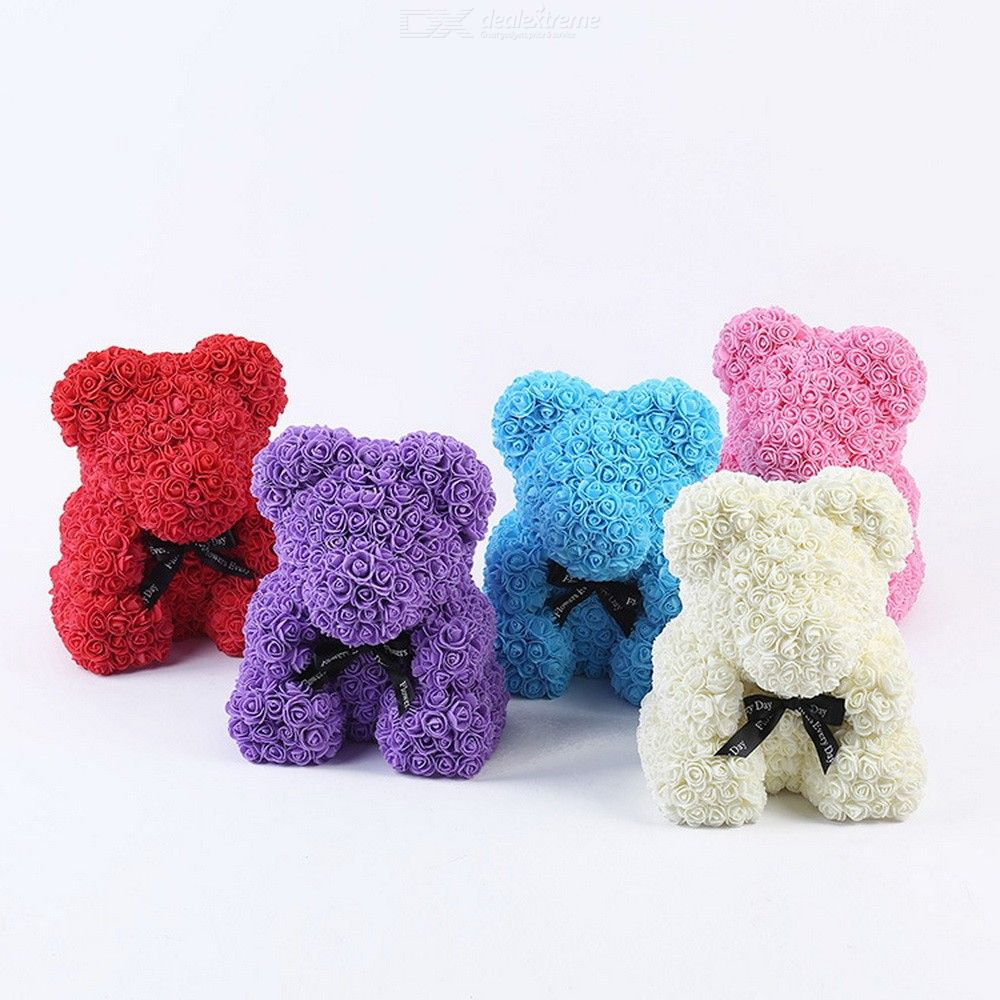 Creative Bear Rose Cute Animal Shape Flowers Gift For Valentine'//s Day