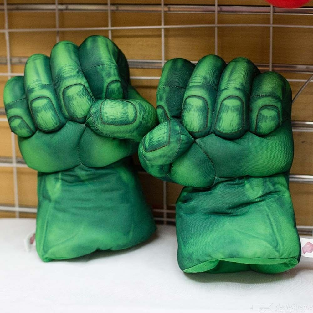 The Avengers Incredible Hulk Smash Hands Spider Man Plush Gloves Performing Props Toys