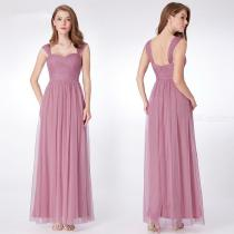 Classic-Solid-Evening-Dress-Maxi-Draped-Chiffon-Dress-For-Wedding-Birthday-Party