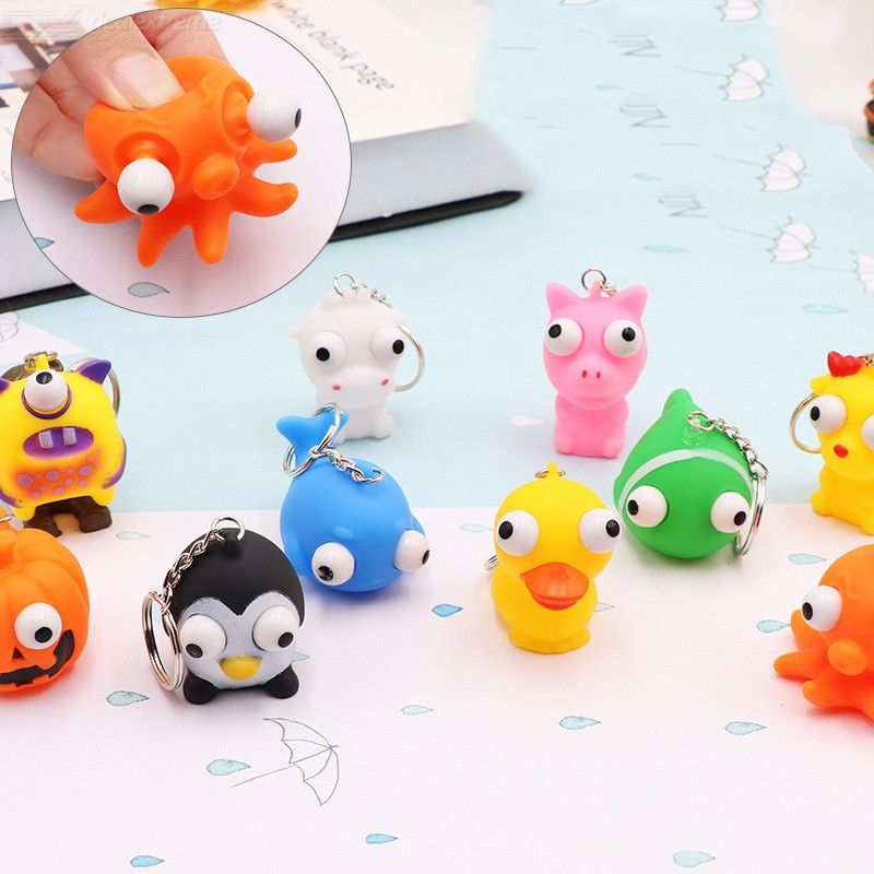Novelty Cute Vomiting Egg Vent Phone Straps Squishy Anti Stress Scented Halloween Jokes Kids Toy Gift Funny Mobile Phone Accessories