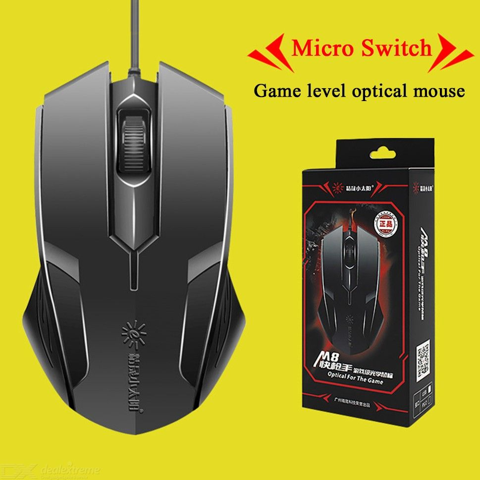 Logitech USB Wired Optcal Mouse for Windows 10//8//7//XP PC//MAC Notebook Desktop M