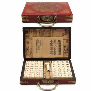 Mini Chinese Antique Mahjong Games Four Wind Board Game With English Manual