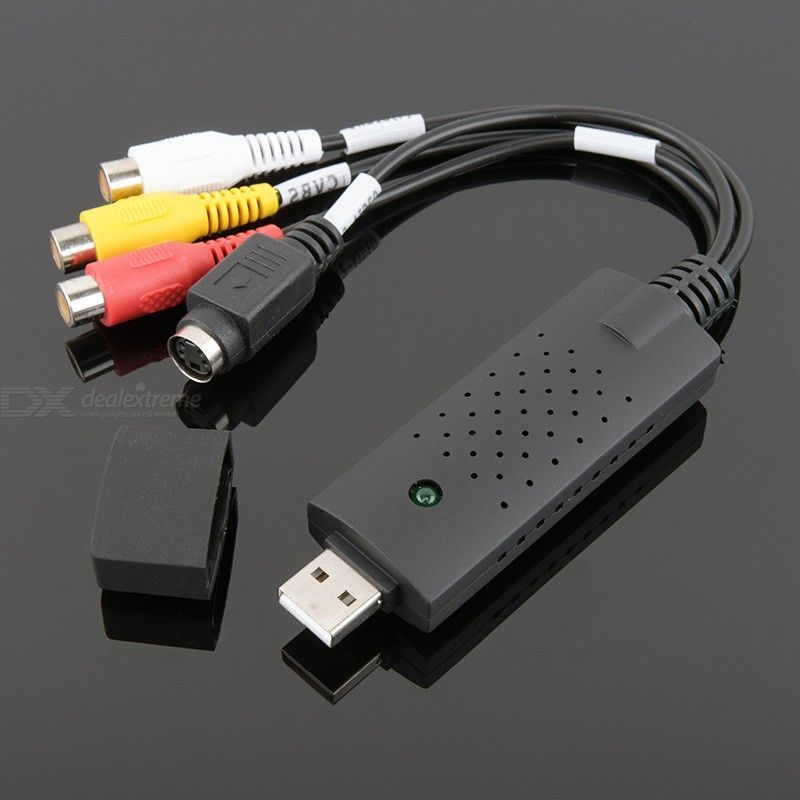 VHS Video Capture Guide USB 2.0 Video TV DVD VHS Audio Capture Adapter Video Capture Card Cable For USB Video Grabbers