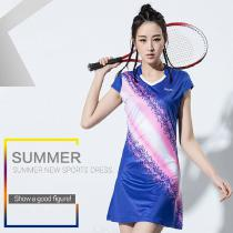 Sports-Dress-Badminton-Clothes-Short-Sleeve-Tennis-Dress-With-Safe-Shorts-For-Women