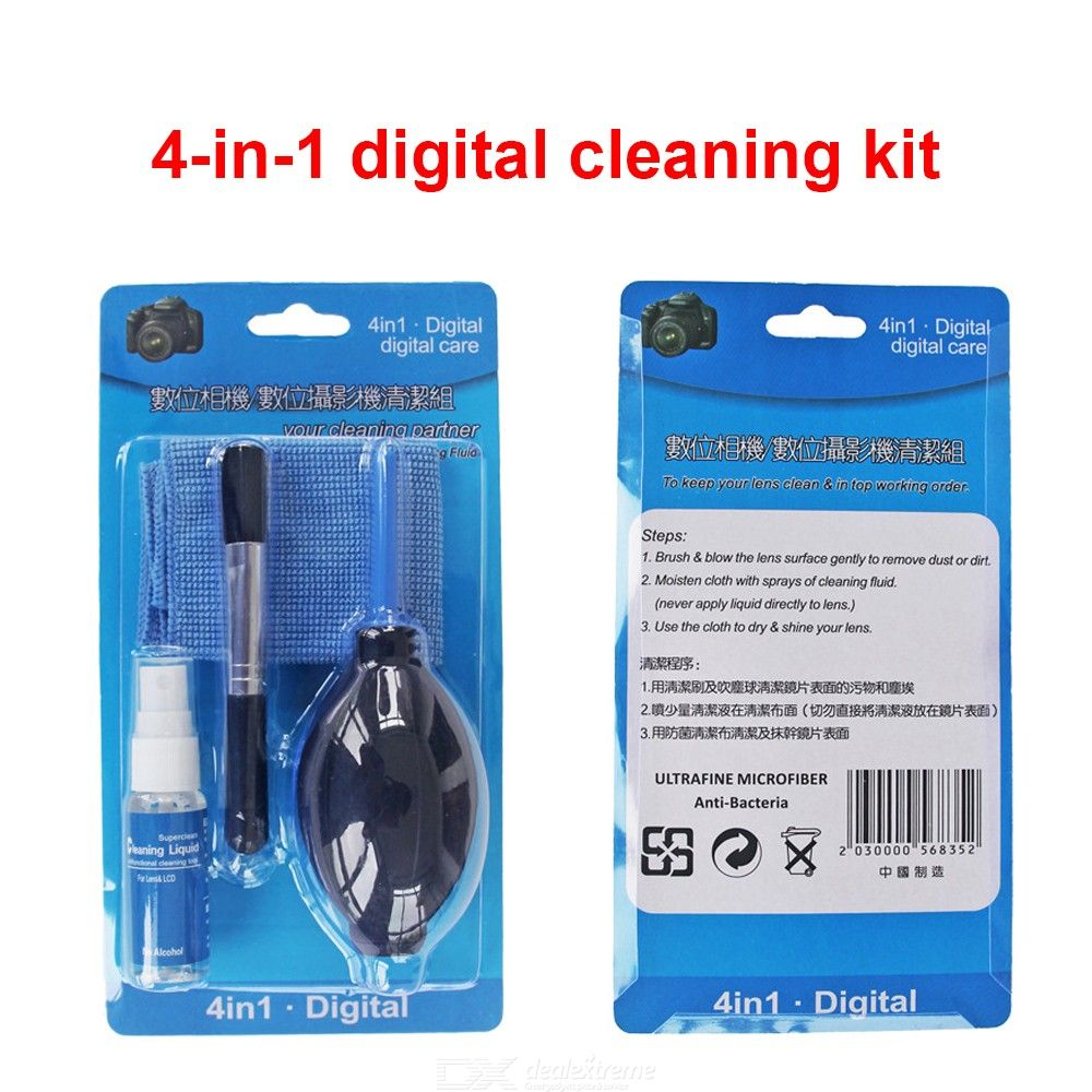 Professional Camera Cleaning Kit 4-in-1 DSLR Cam Cleaning Tools
