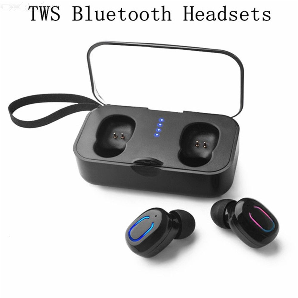 TWS Ti8s Mini Wireless Earphones Bluetooth 5.0 Stereo Earbud Headset Fitness Headphones Mic For IPHONE Xiaomi