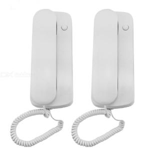DC Wall-Mounted Doorbell Telephone Wired Non-Visual Intercom Doorbell Elevator Two-Way Telephone Indoor Call