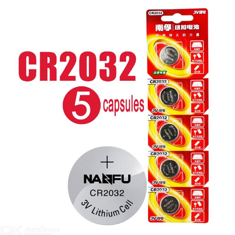 CR2032 Button Cell Battery 3V 240mAh Watch Small Electronics Coin Battery