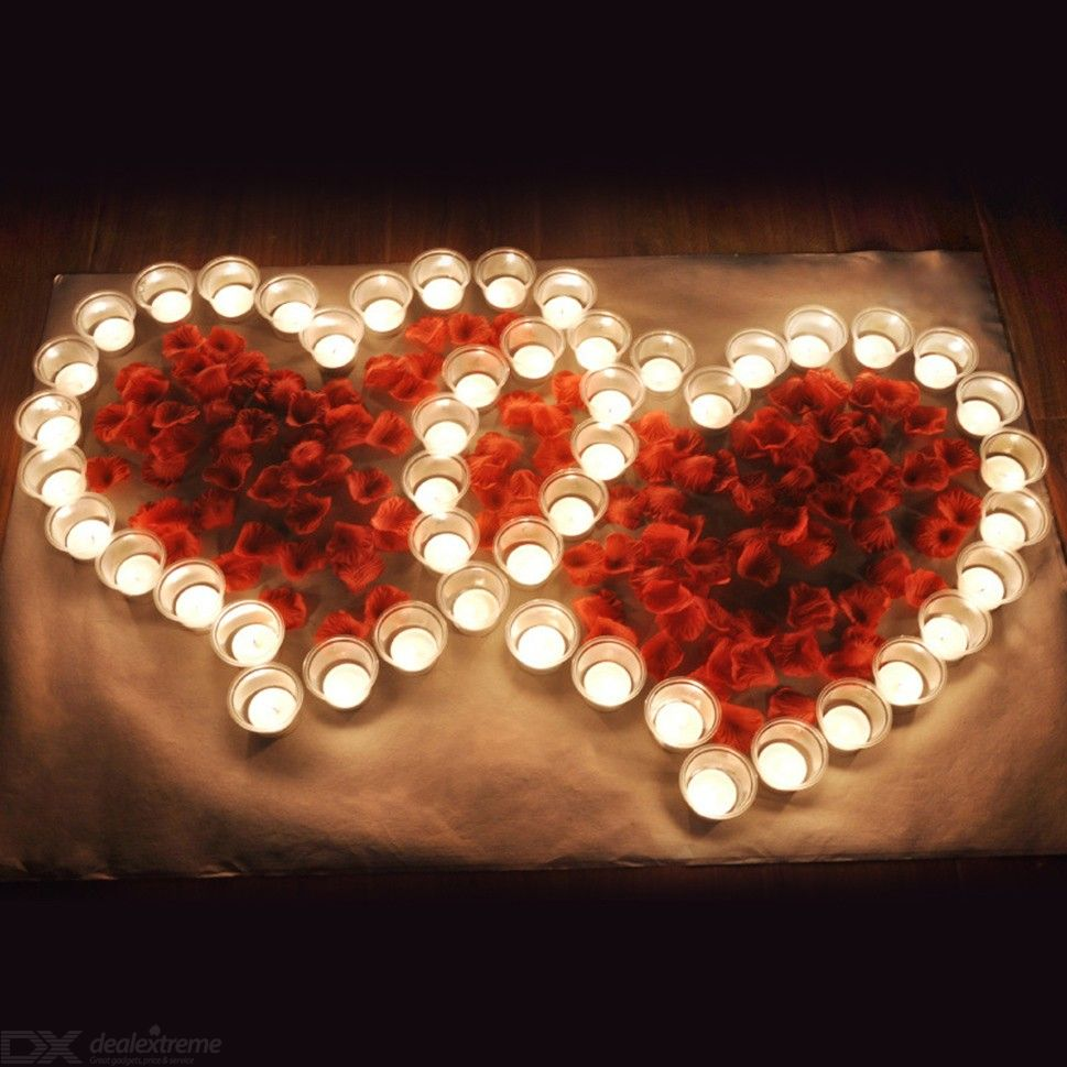 Candle Romantic Package Heart Shape Creative Gift Rose Birthday Confession Proposal Props Love Party Decoration
