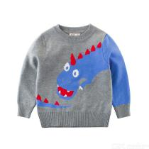 Boys-Sweaters-Dinosaur-Round-Neck-Pullover-Double-Thicken-Long-Sleeve-Warm