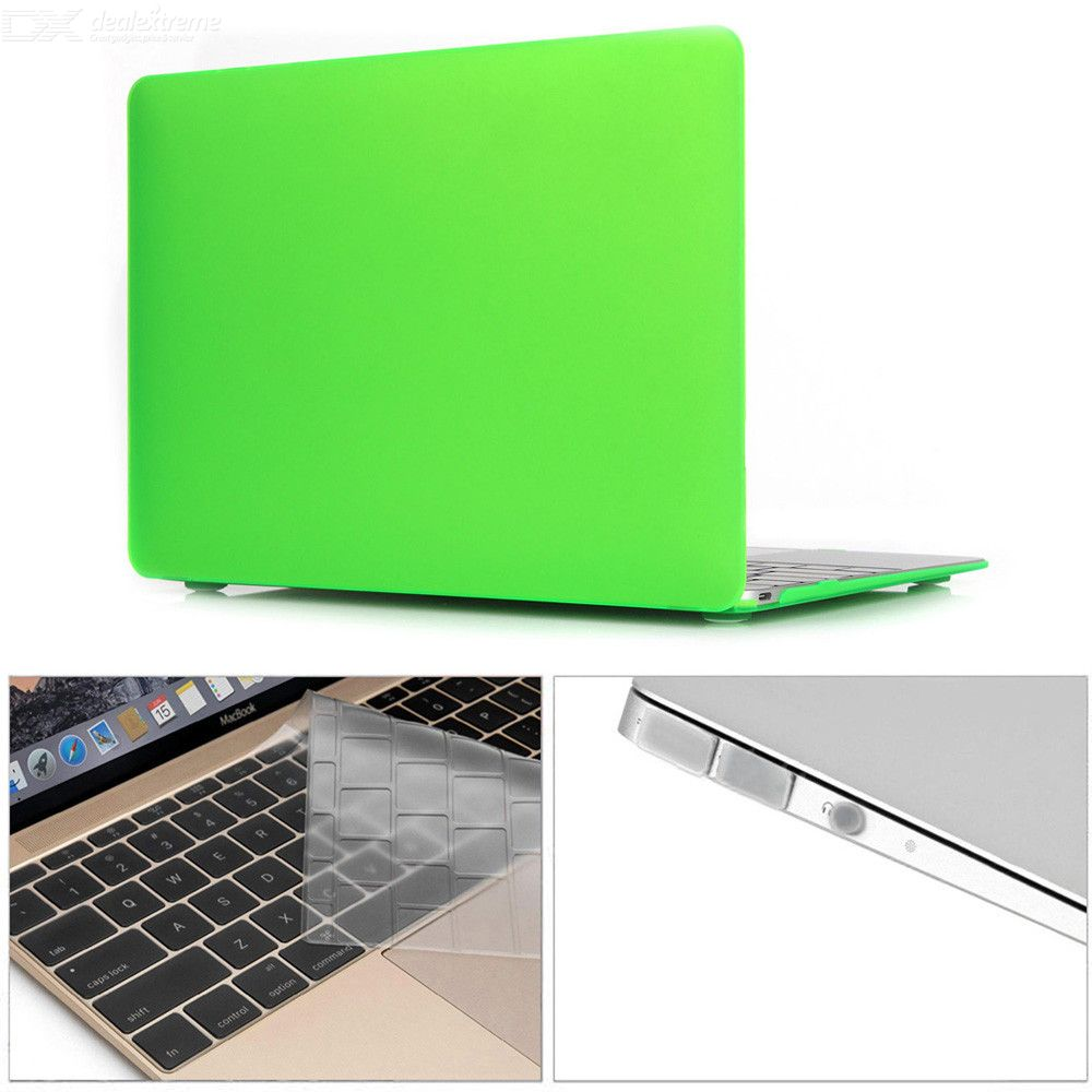 Dayspirit 3 in 1 12 inch Matte Case + Keyboard Cover + Anti-dust Plugs for MacBook