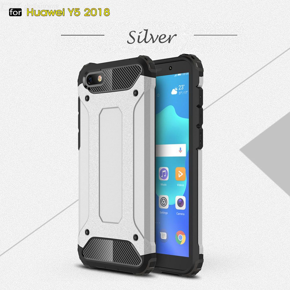Dayspirit King Kong Armor Style Shockproof Anti-Scratch Protective TPU+PC Back Cover Case for Huawei Y5 Prime (2018)/Y5 (2018)