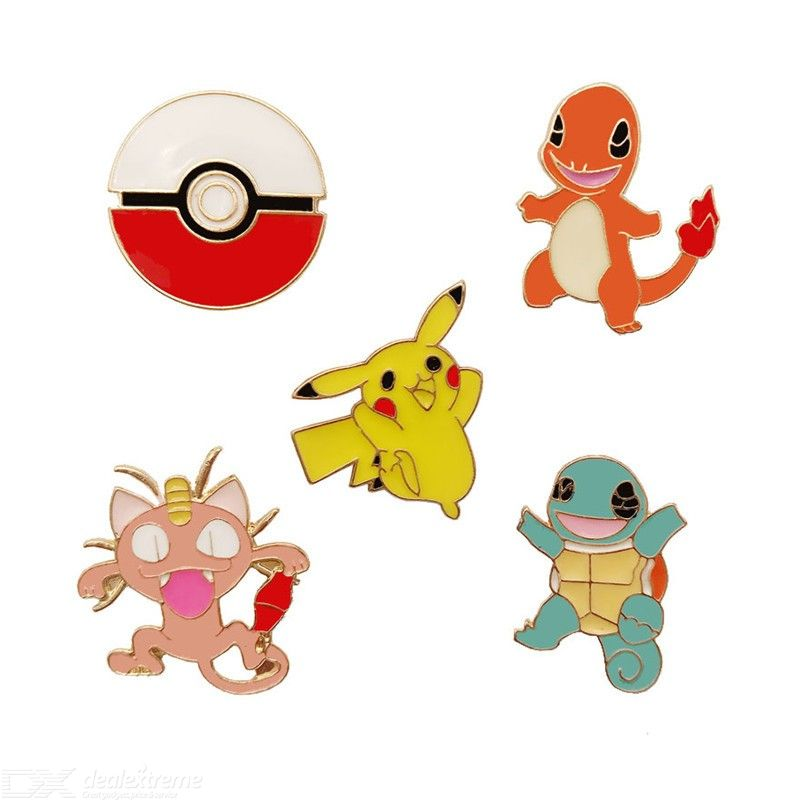Alloy Enamel Pikachu Pokemon Super Monster Go Pokeball Brooch Pin Costumes Badges Lapel Women Jewelry