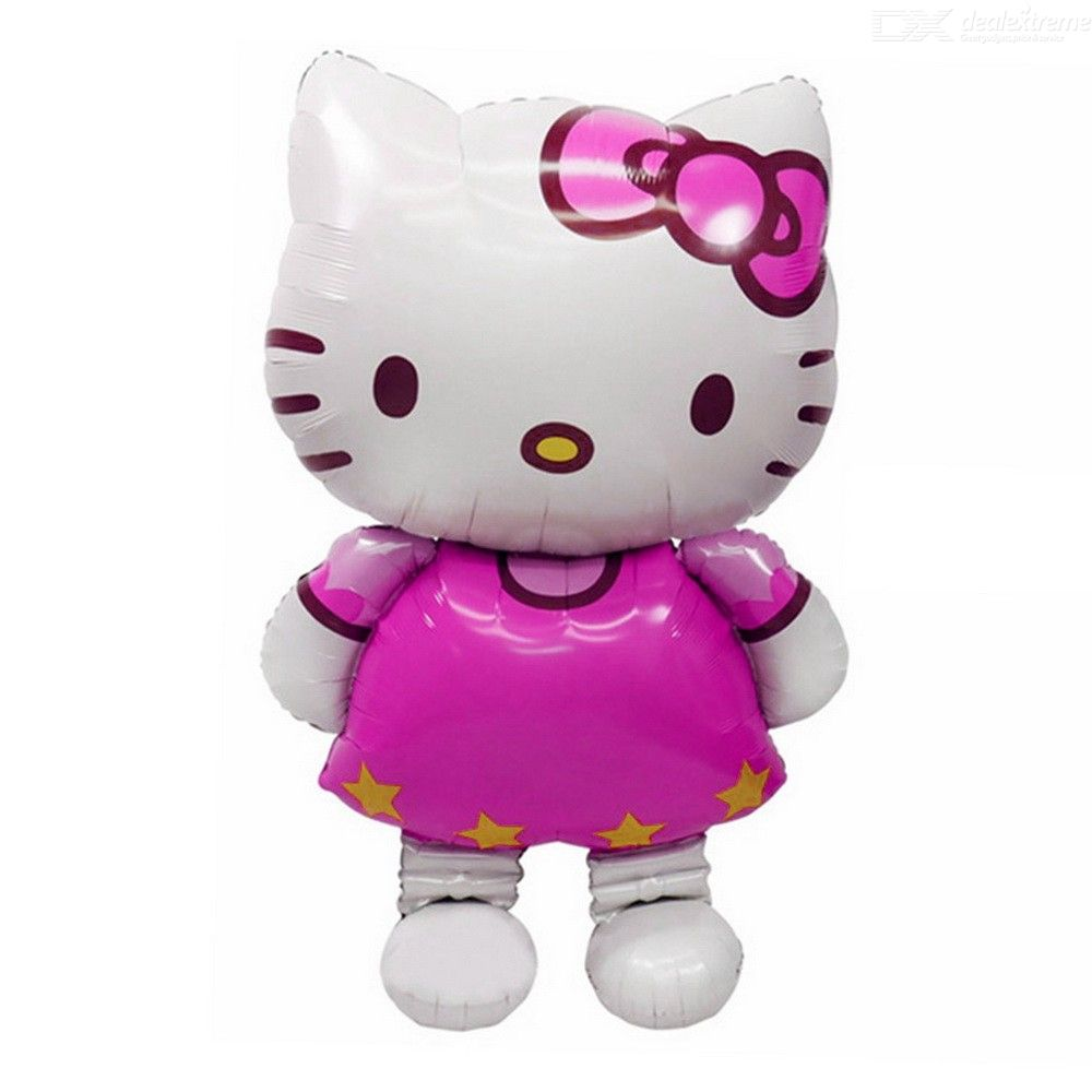Large Size Hello Kitty Cat Foil Balloon Medium Cartoon Wedding Birthday Party Decoration Inflatable Classic Air Balloons