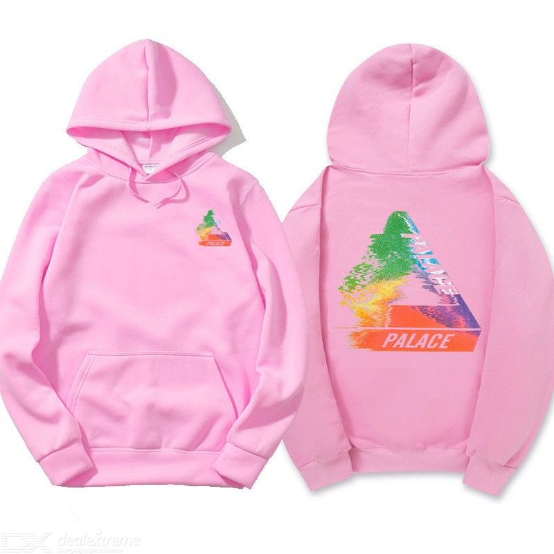 Men Hooded Pullovers PALACE Triangle Print Thicken Casual Sweatshirt ... 3f086f97fd