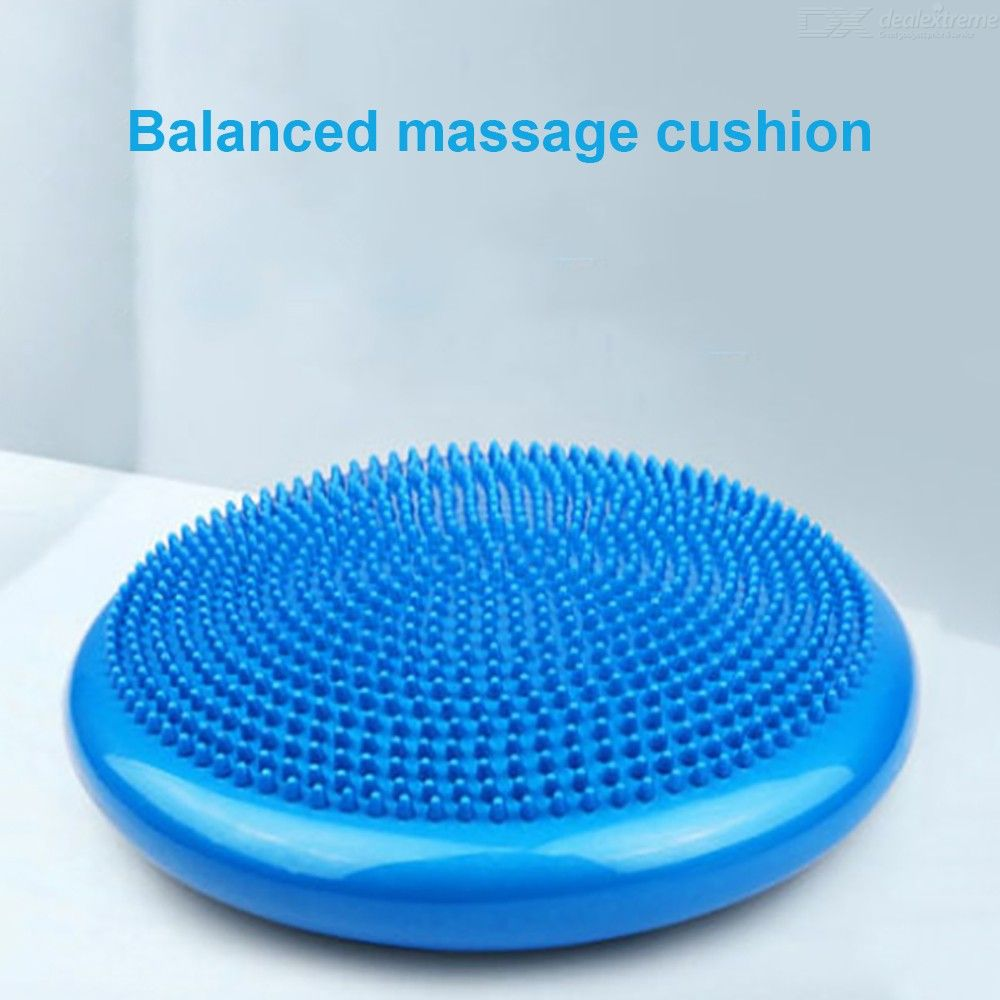 Inflatable Yoga Massage Ball Sports Training Balance Cushion Durable PVC Fitness Mat (33cm)