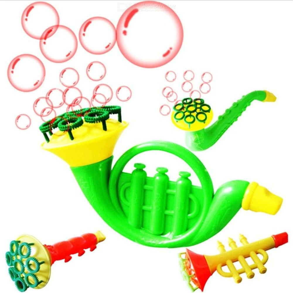 Water Blowing Toys Bubble Gun Soap Blower Outdoor Kids Child Toys Random Color