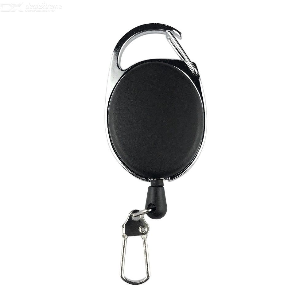 Outdoor Mountaineering Telescopic Keychain Adjustable Buckle Anti Theft Wire Rope Deduction Keyrings