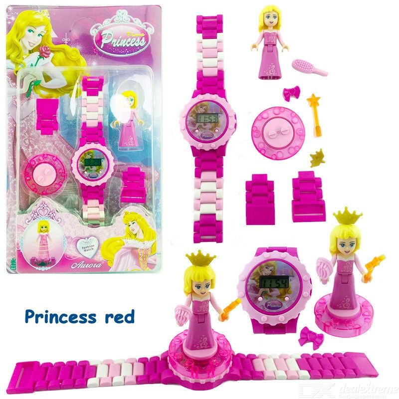 Children DIY Cartoon Electronic Watch Kindergarten Assembly Eyes Building Blocks Unisex Educational Toys