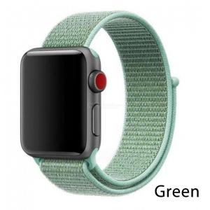 Nylon Loop Strap Refreshing Breathable Watchband For Apple Watch Series
