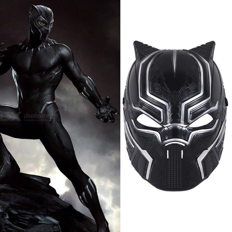 New Movie Hero Savior Black Panther Mask Cosplay Costume Halloween Party Masquerade Decoration Props