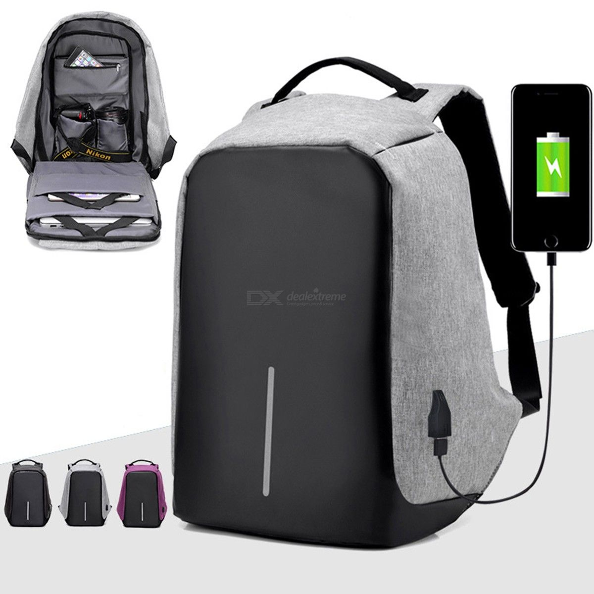 Multifunction Laptop Backpack USB Charging Business Large Capacity Travel Softback Bags
