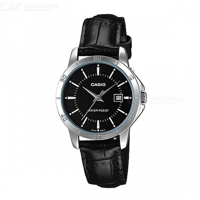 Casio LTP-V004L-1A Leather Band Analog Ladies' Watch-Black(Without Box)