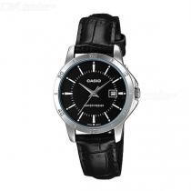 Casio-LTP-V004L-1A-Leather-Band-Analog-Ladies-Watch-Black(Without-Box)