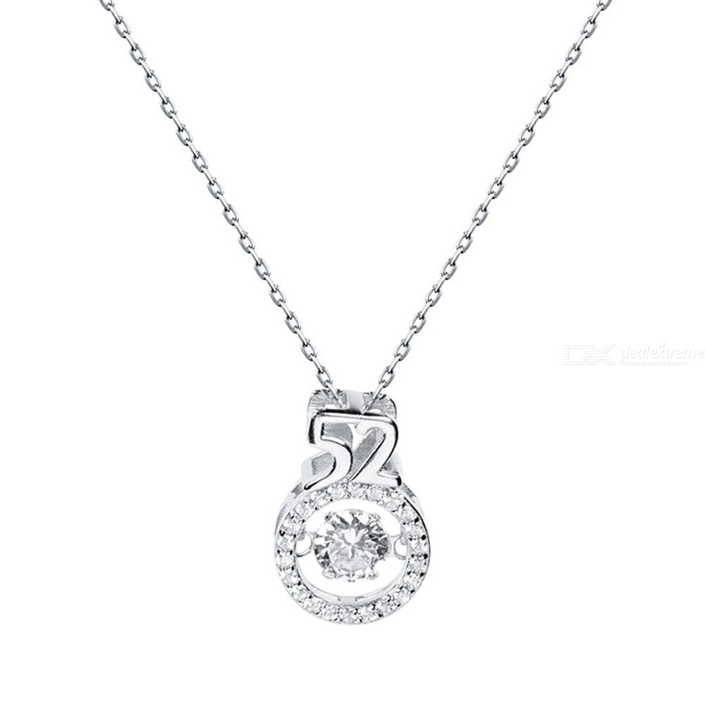 925 Sterling Silver Short Clavicle Chain Necklace Diamond Dazzling Zircon Pendant Necklace - from $3.49