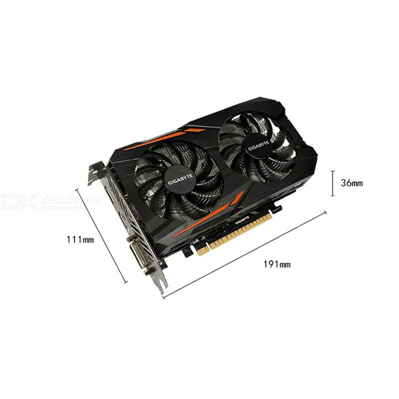 GIGABYTE GeForce GTX 1050Ti OC Gaming Graphic Card 4GB DVI HDMI DP 1316-1430MHz/7008MHz