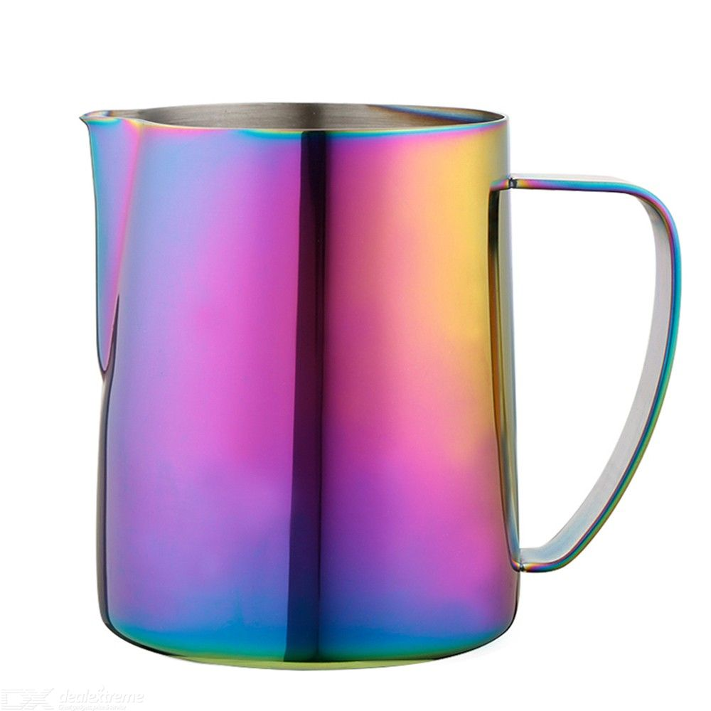 Stainless Steel Rainbow Milk Frothing Pitcher Coffee Mugs For Milk Steaming Frother Espresso Machines Latte Art
