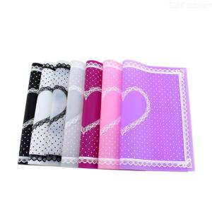 Manicure Silicone Plate Heart Dotted Table Cover For Nail Art 28 X 21 X 0.1cm