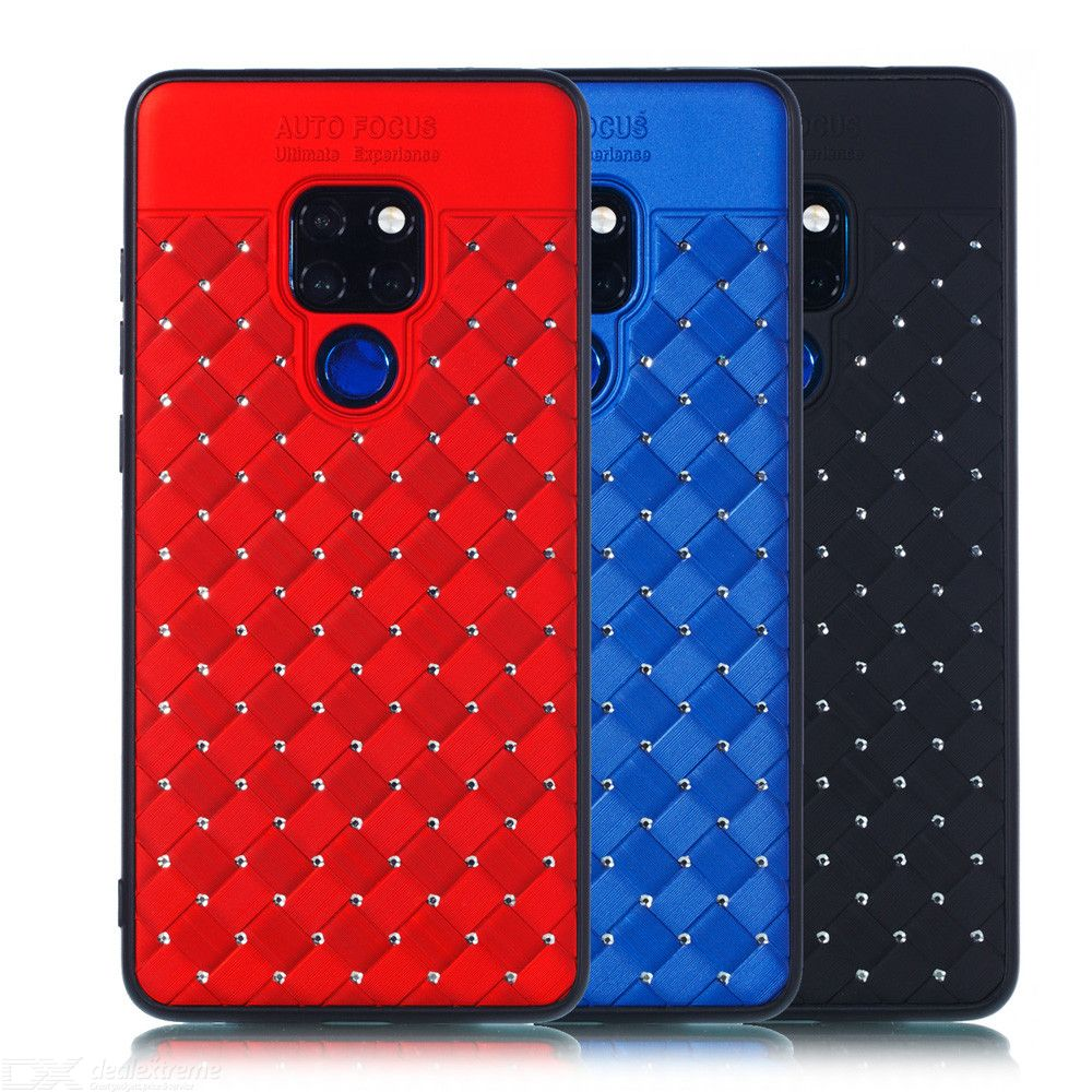 Dayspirit Luxury Diamond Woven Pattern Cover Phone Case For Huawei Mate 20/Mate 20 Lite