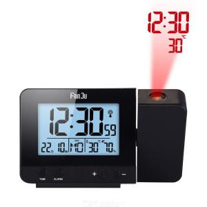 FanJu FJ3531 Projection Alarm Clock Digital Date Snooze Function Backlight Projector Desk Table LED Clock With Time Projection