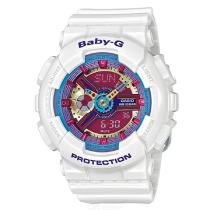 Casio-Baby-G-BA-112-7A-Quartz-Womans-Watch-Multicolor-Dial-White