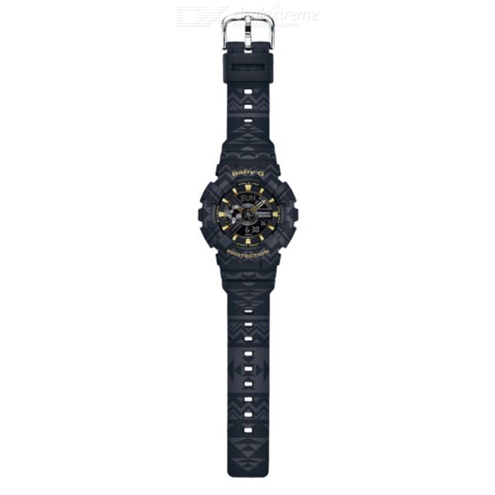 Casio Baby-G BA-110TP-1A Tribal Pattern Series Watch - Black + Gold
