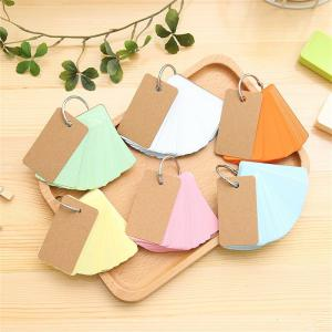 Kraft Loose-leaf Note Book Paper Binder Ring Easy Flip Flash Cards Study Memo Pads Small Word Card Stationery