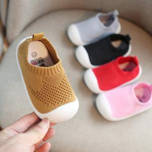 Babys Slip-on First Walkers Soft Cotton Knitting Shoes For Toddler