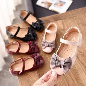 Girls Adorable Flats Mary Jane Princess Shoes With Bow