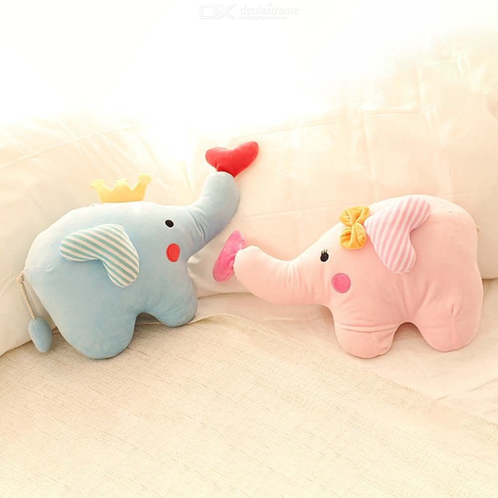 Cartoon Elephant Plush Toy Couple Love Baby Animal Doll Baby Comfort Toy Pillow