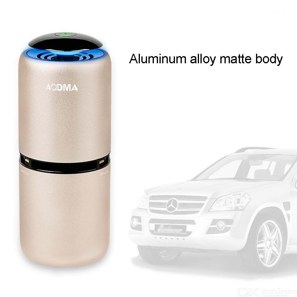 Mini Car Air Purifier Double USB Negative Ion Generator Air Cleaner Remove Odor PM2.5 Smoke Dust