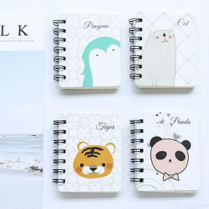Cute Animated Cartoon Roll Coils Small Notebook For Student Supplies
