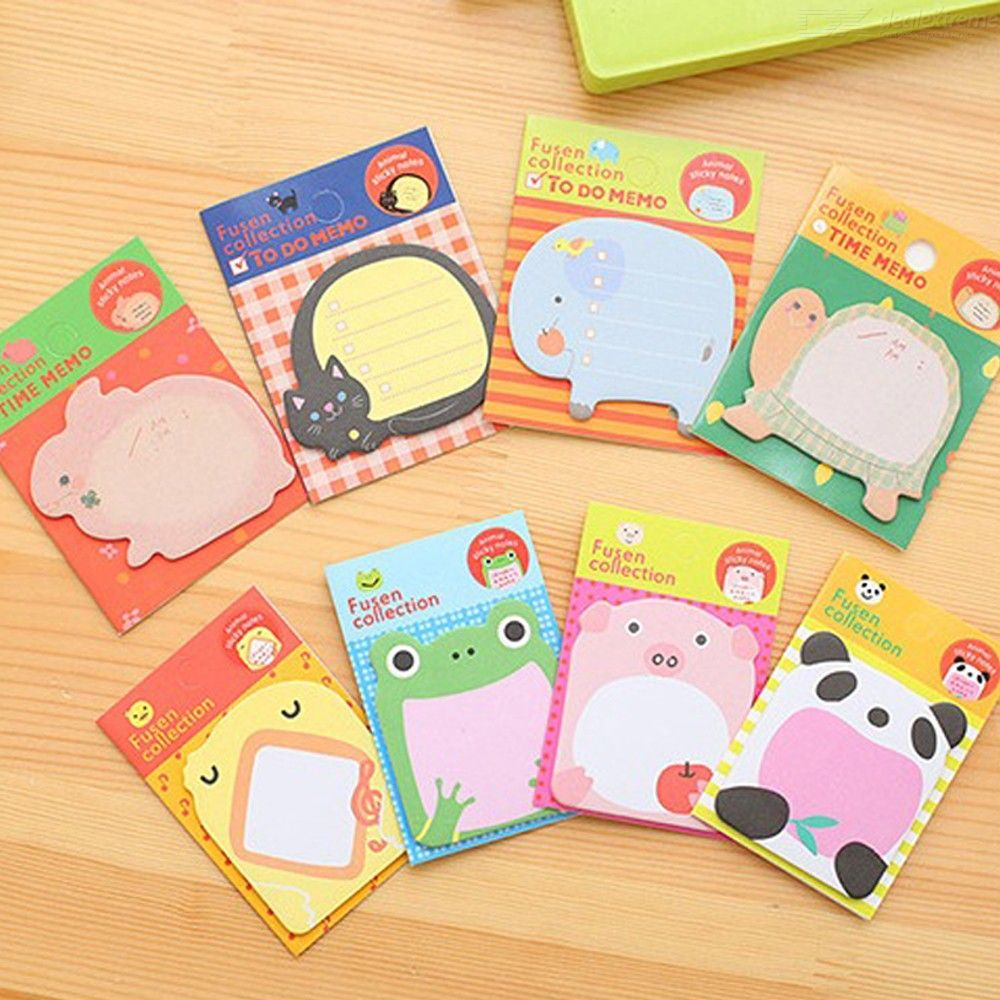 Creative Stationery Memo Pad Cartoon Zoo Animal Park Can Be Torn And Sticky Notes N Times Stickers Memo Pad
