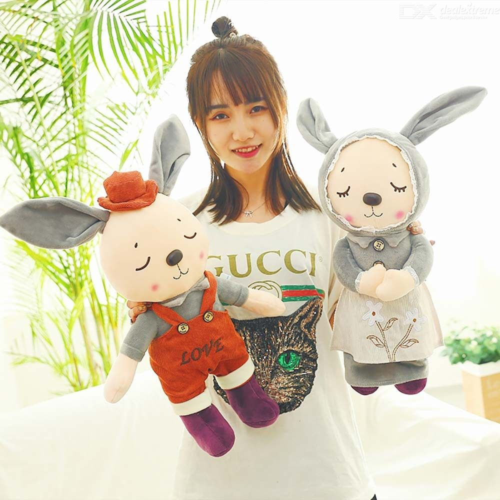 Kawaii Rabbit Plush Toys Soft Stuffed Cartoon Animal British Style Bunny Dolls Baby Kids Toy